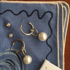 Bella Jack pearl fashion earrings, nearly new